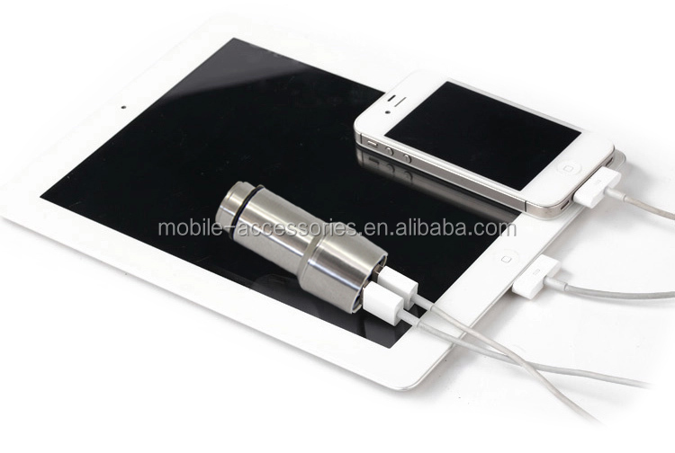 High Quality Best Promotional Metal Alloy Dual Usb Car Charger