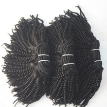 Alibaba China factory 4b 4c small afro kinky curly human hair tangle&shedding curly hair extensions human hair