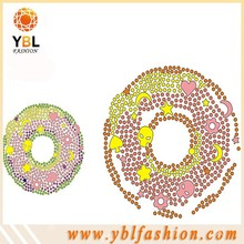 factory price sweet donut hotfix motif design for kids clothes