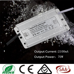 constant current led driver 70w 2100mA