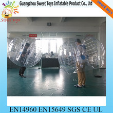 inflatable kids body zorb/ body bumper balls