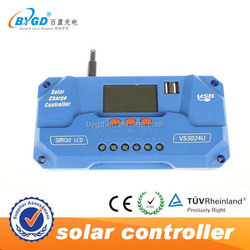 CE pwm solar controller charger ,12/24 30a charge controller with LCD