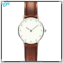 Promotion price 316L stainless steel back case water resistant slim watch
