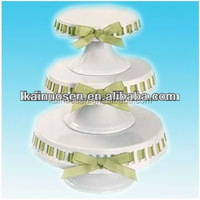 White Porcelain Cake Stand with Ribbon Tie,Cake holder