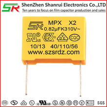 0.82uf film capacitor electronic components direct current