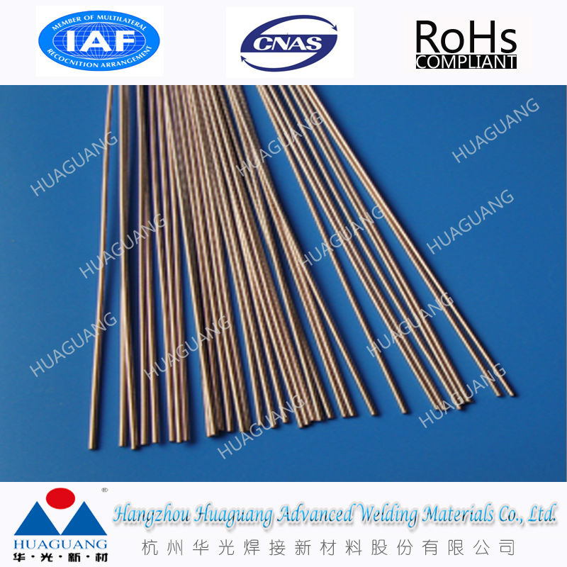 Silver containing copper phosphorus alloy brazing rod