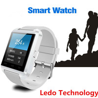 LEDO Cheap price bluetooth watch TFT LCD touch screen watch mobile phone with multi-language