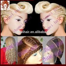 7a rubia de onda virgen europea pelucas judío