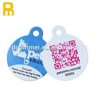 Pet tags id best selling metal id dog tag cool qr code pet tag