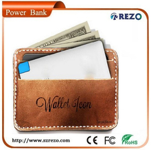Travel essentials portable mini card power bank 2000mah