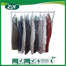 durable custom printed heavy duty garment plastic poly bag with hanger