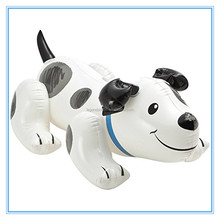Inflatable dog ride on, PVC inflatable dog shape water rider toy for kids