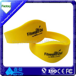 bulk cheap rfid wristbands silicone for swimming pool/ adjustable silicone wristband