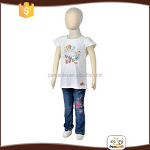 Unique design breathable girl children short sleeve t-shirt