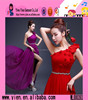 2015 OEM Manufacturer High Quality Party Dress Custom Made Flower Chiffon Ladies Evening Formal Dress