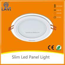 Led Lights Homes Glass Round 6W 12w 18W Led Panel Light,Made In China
