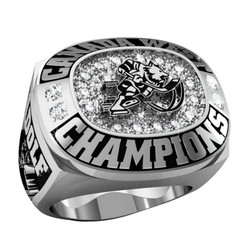 Deep engraved Hockey Championship rings with different player names