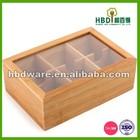Alta qualidade venda quente eco- amigável caixa de chá madeira para venda