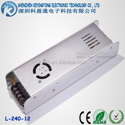 240W 20A AC/DC Slim Model Switching Power Supply 12V LED Power Supply