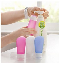 Portable airless fda silicone wide mouth squeeze tube