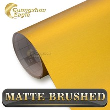Hot New Products Gold Brushed Metallic Chrome Wrap Car Styling For Car Color Change Film