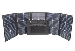 big power high 100 Watts light weight and folding solar panel, charge for 12V, 18v batteries