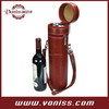 Leather Tube Style Wine Bottle Carrier Holder for Gift Giving Storage Holds One Bottle With Two Wine Accessories