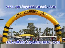 high quatity big yellow advertising inflatable arch or inflatable archway for sale sp-ah033