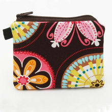 fashion fabric squeeze coin purse