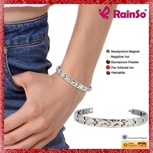 Rich and powerful family energy magnetic titanium ion bracelet