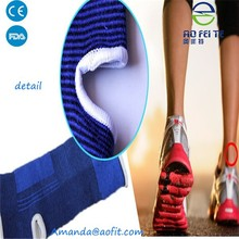 Factory wholesale High Elastic Blue Knitted foot ankle brace support in Alibaba China