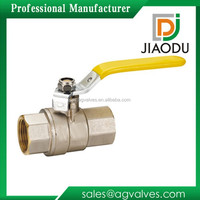 Zhejiang manufacturer forged female original brass color natural ball valve female for gas with yellow handle