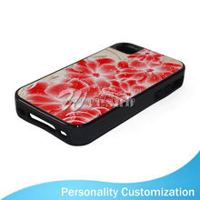 2D Sublimation Blank Phone Case for Iphone 4 oem plastic mobile phone case injection molding for Iphone