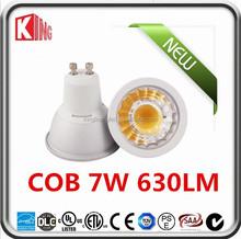 GU10 led bulbs cob 7W dimmable led spotlight bulb CRI95 SHARP COB 2700K led spotlight price ce rohs certificate