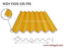 corrugado para techos de chapa de acero