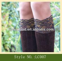 Fashion Trends Womens Lace Boot Cuff Socks