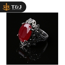 Christmas Festival Best Girft For Women Fashion Vintage Red Acrylic Leaf Ring
