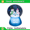 new product 5' Christmas Decoration inflatable lighted snowman in snowing ball for home decoration