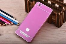Anti-scratch Back Cover Aluminum Metal Bumper Frame + PC Phone Back Case for Xiaomi Mi4i