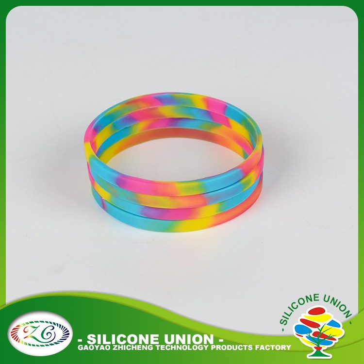 One Direction Silk Rpint Thin Rainbow Color Rubber