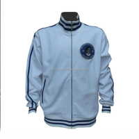 Hot selling men white high quality plain varsity jacket