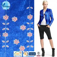 Wholesale100% Polyester Knitted Panne Velvet Fabric