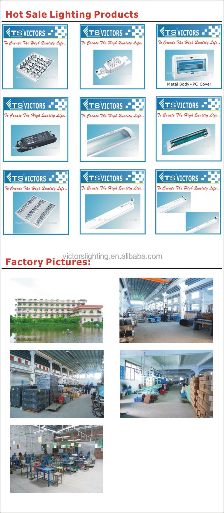 2x18w fluorescent lighting fixture