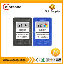 For HP 21 21xl Ink Cartridge , Compatible HP ink Cartridge For HP 21 22 , with 2 year warranty