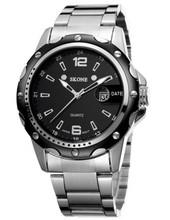 NO 7147 Calendar Fashion Stylish Stainless Steel Wrist Watch for Man