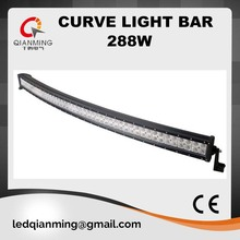 High quality 50 inch 288W curve led light bar for jeep suv 4wd ute off road ip67