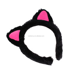 Costume hoodie with cat ears crochet cap with cat ears headband QHBD-2105