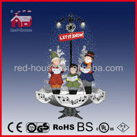 awesome gift of Christmas Decoration with snowing Choir