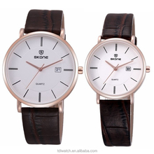 Hot selling nice look couple watch japan movement waterproof watches for couple