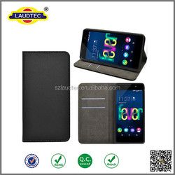 Hot!!Genuine magnetic closure Leather case for Wiko Fever 4G Case